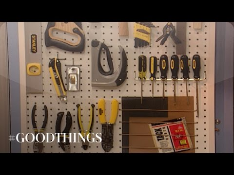 Good Things: How to Make a Pegboard Tool Organizer - Martha Stewart