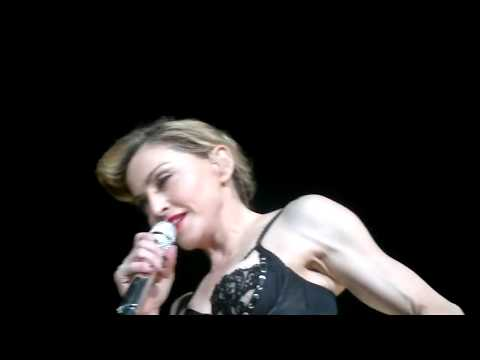MADONNA MDNA TOUR ISTANBUL FRONT VIEW HUMAN NATURE LIKE A VIRGIN FULL NIPPLE 2012