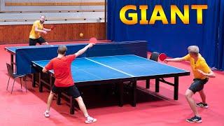 2 vs 1: Giant Ping Pong