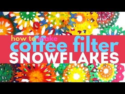 Snowflake Craft: How to Make Coffee Filter Snowflakes