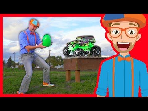 Xxx Mp4 Fun Blippi Monster Truck Egg Hunt – Learn Colors With Blippi 3gp Sex