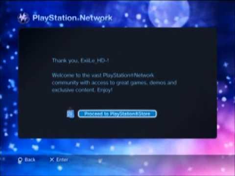 PlayStation Network Account Setup