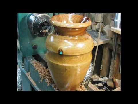 #128 Woodturning a Live Flower Vase Part 2