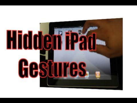 Enable Hidden iPad Gestures