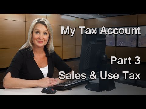 My Tax Account 3 – File and Pay Sales and Use Tax