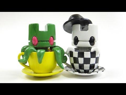 Speed Painting Custom Vinyl Art Toys: Lunartik Mini Teas