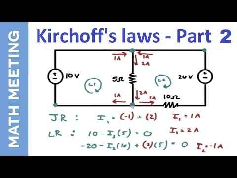 Kirchoff's Law - Circuits Tutorial - part 2