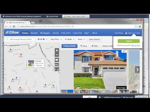 Look Up Property Values from the Contact Screen Using the Zillow Zestimate Feature