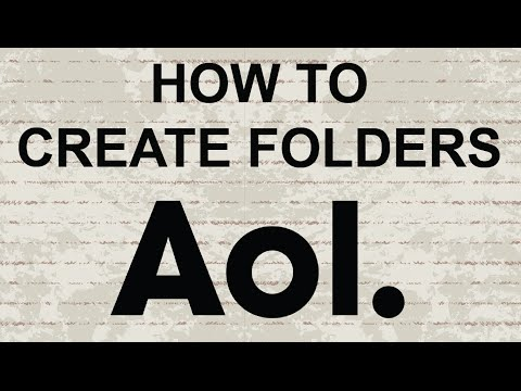 How to create folders in AOL Mail