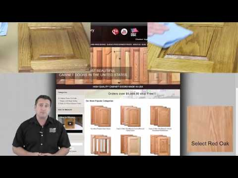 How to stain and Lacquer unfinished cabinet doors with great results