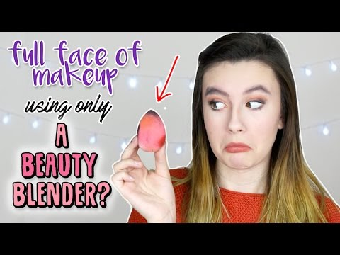 Full Face of Makeup Using Only a BEAUTY BLENDER? ♡