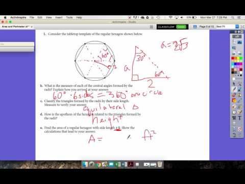 Notes Area and Perimeter of a Regular Polygon