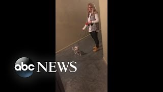 Video: White woman refuses black man entry into building