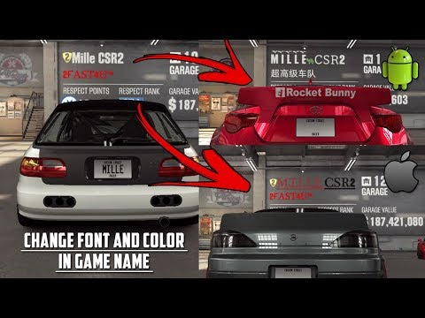 CSR Racing 2 | How to customize your in game name (font, color, ...) - Android/iOS