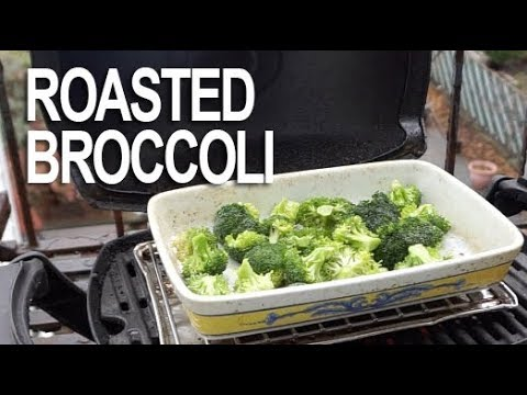 Weber Q: Roasted Broccoli with Garlic, Meyer Lemon and Parmesan Cheese