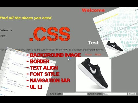 Styling HTML webpage using CSS in Notepad++ , background, font style, centering