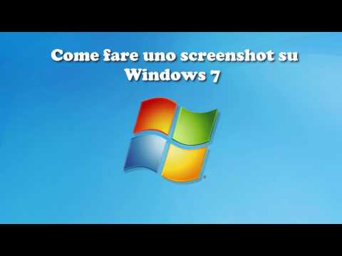 Come fare uno screenshot con Windows 7