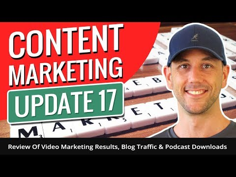 Content Marketing Update 17. Review Of Video Marketing Results, Blog Traffic & Podcast Downloads