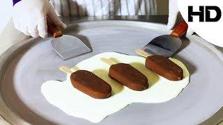 ايس كريم على الصاج بايسكريم لندن المغطى بالشوكولاتة(مع تقيمي للطعم)- ice cream london