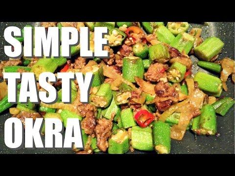 How to make fried Okra (Bhindi/Lady's Fingers)   Simple Recipe