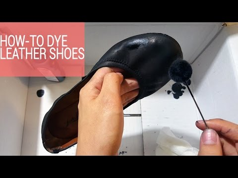 How to Dye Leather Shoes to a Different Color