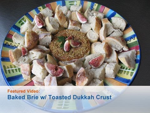 Baked Brie with Toasted Dukkah Crust