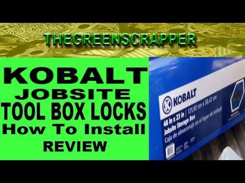 KOBALT JOBSITE BOX LOCKS - MASTER LOCK # HOW TO INSTALL + REVIEW - LOWES TOOLBOX INSTALLATION