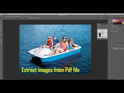 Extract Images from Pdf using Adobe Photoshop CC 2018 (Easy)