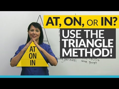 Master AT, ON, IN with the TRIANGLE method