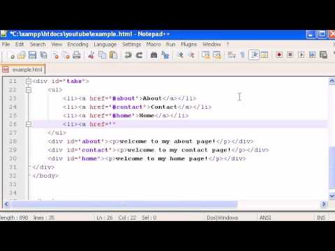 jQUERY PART 22 Tabs creation, Description,  specification, requirements and accessibility in jquery