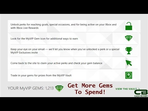 Xbox Live Rewards MyVIP Gems Overview and Tips - Get MyVIP Gems by Earning Achievements and more!