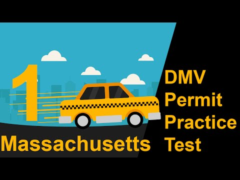 Massachusetts DMV Permit Practice Test 1 -  2016