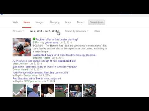 Google Chrome: How to use Advanced News Search