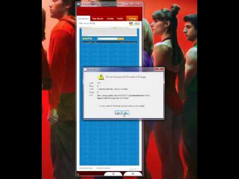 Internet Options Javascript error