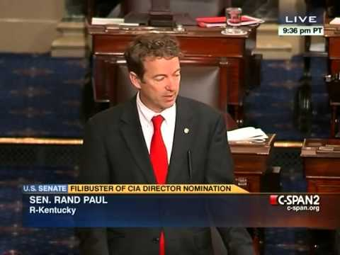 Rand Paul Yields the Floor, Ending Nearly 13 Hour-Long Filibuster Over Obama's Drone Strikes