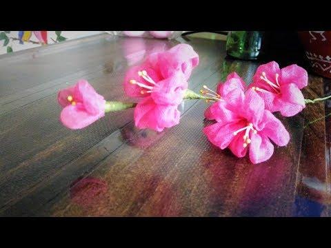 DIY How To Make Organdy Flower   Flower Bouquet