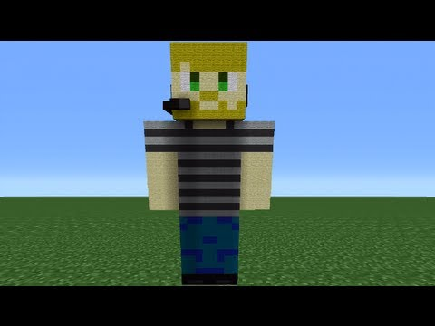 Minecraft 360: How To Make A Pewdiepie Statue