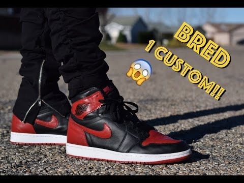Bred Air Jordan 1 Custom (Full Timelapse + On Feet)