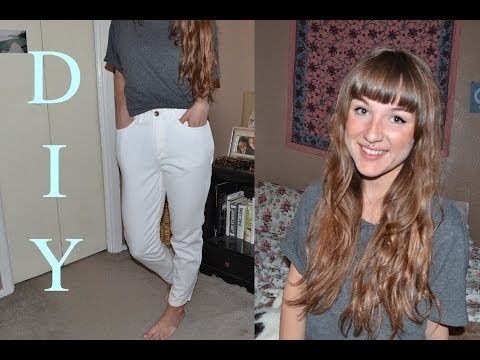 DIY How to Make Mom Jeans/High Waisted Jeans