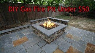 DIY Gas Fire pit Under $50 in 1 Minute!!