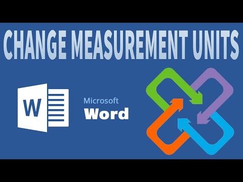 MS Word 2016 - 2013 change measurement units