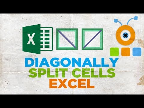 How to Diagonally Split Cells in Excel
