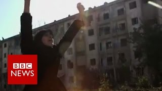 Syria: Celebrations as families return to homes in Aleppo - BBC News