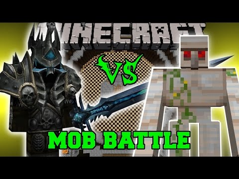 LICH KING VS MUTANT IRON GOLEM - Minecraft Mob Battles - Psycraft Mods