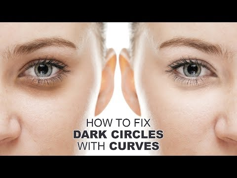How to Fix Dark Circles with Curves in Photoshop - Quickly Remove Bags Under Eyes