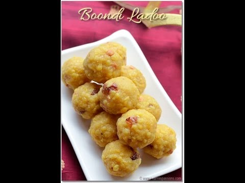Boondi Ladoo Video - How to make Boondi Ladoo