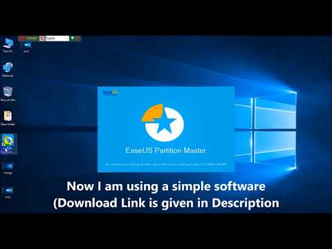 How to Extend C Drive by Partition and Merge in Windows 10 8 7 | Easiest Simple Steps | Tutorial