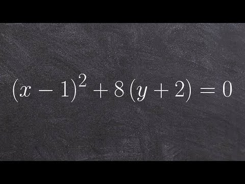 How to determine the focus directrix and vertex