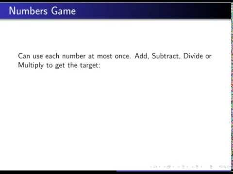 Numbers Game Easy, a Good Place to Start before Trying the Harder Ones?