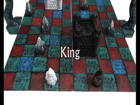 3D printed board Game Cyvasse from the Game of Thrones books
